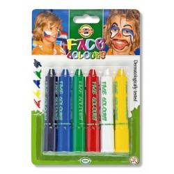 Set 6 culori pentru pictat pe fata