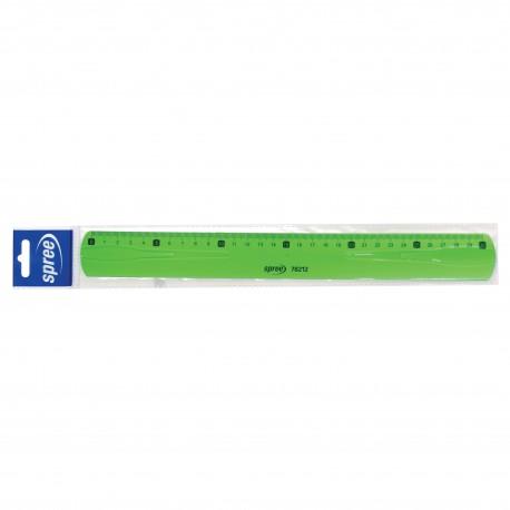 Rigla flexibila 30cm VERDE FLUO