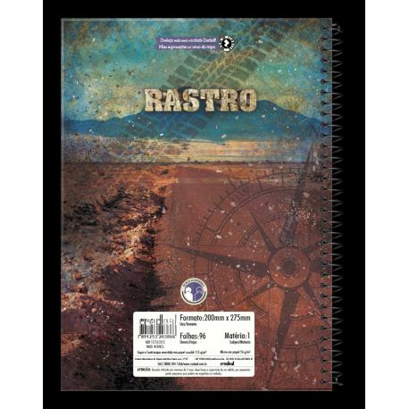 Caiet spira metal RASTRO 96 pagini