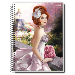 Caiet spira metal PRINCESA FASHION 96 pagini