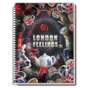Caiet spira metal LONDON FEELINGS 200 pagini