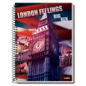 Caiet spira metal LONDON FEELINGS 320 pagini
