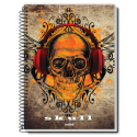 Caiet spira metal SKULL IS COOLTURE 200 pagini