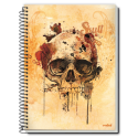Caiet spira metal SKULL IS COOLTURE 320 pagini