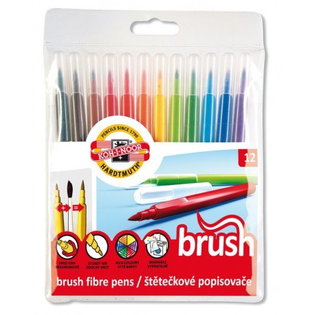 Set 12 cul carioca PAINT BRUSH