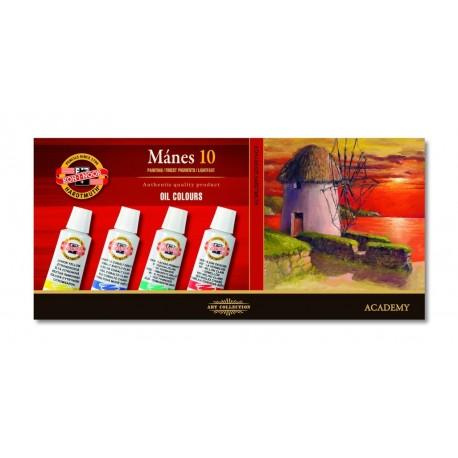 Set 10 culori ulei MANES 16ml
