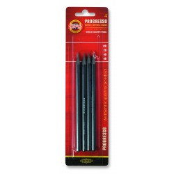 Set 4 creioane Progresso 6B, 4B, 2B, HB blister