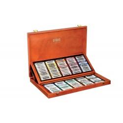 Set 120 culori creta uscata cutie lemn