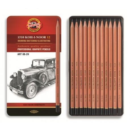 Set 12 creioane grafit natur KOH-I-NOOR ARTA