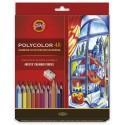 Set 24 creioane Polycolor + ascutitoare + 1500
