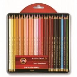 Set 24 creioane POLYCOLOR pt PORTRET