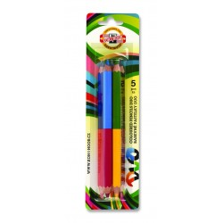 Set 5 creioane DUO-COLOR Jumbo