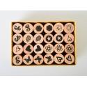 Set stampile lemn