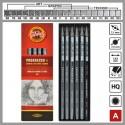 Set creioane grafit fara lemn PROGRESSO