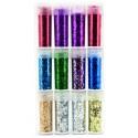 Set 12 culori glitter / sclipici