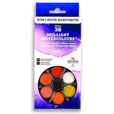 Set acuarela 36 culori STRALUCITOARE