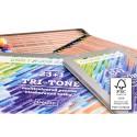 Seturi creioane natur TRI TONE cu Mina Multicolora