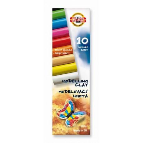 Plastilina scolara 10 culori FLUTURE