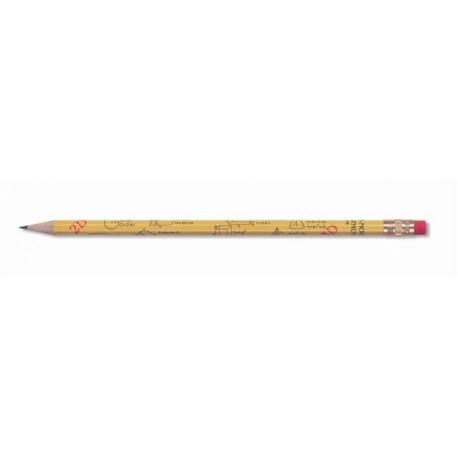 Creion grafit cu guma 1231