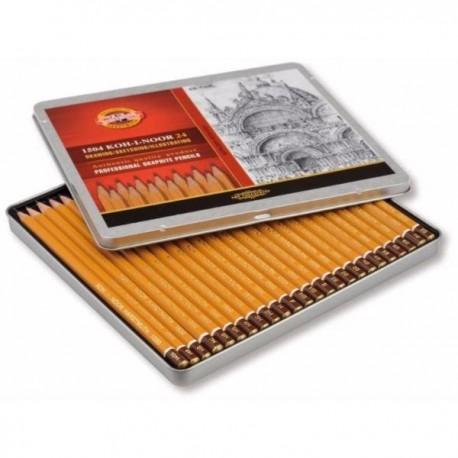 Set 24 creioane grafit KOH-I-NOOR ARTA