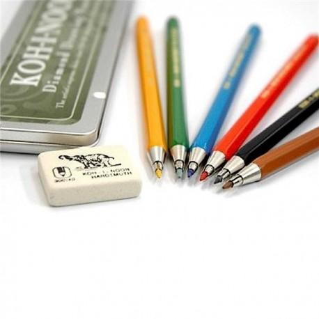 Set 6 creioane mecanice 2mm VERSATIL