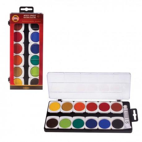 Set acuarela cu pastile de culoare OPACE pentru artisti