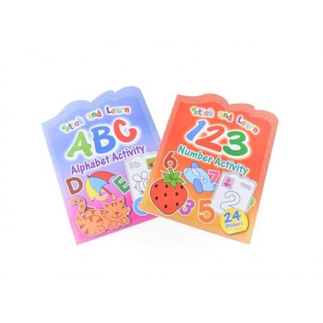 Caiet de colorat A4 ABC cu 24 abtibilduri